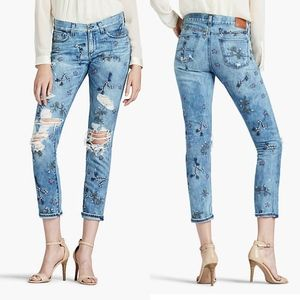 Lucky Brand Floral Embroiderd Sienna Slim Jeans 25